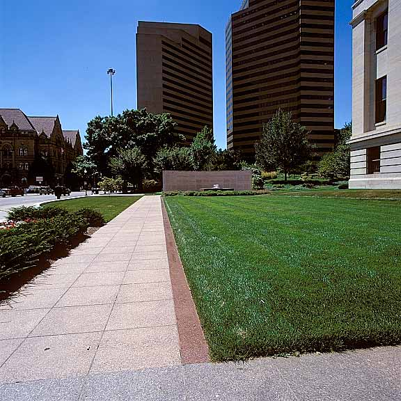 Grass Porous Pavement was installed in the fire lane access areas at the Ohio Statehouse Capitol and Veterans Plaza, Columbus, Ohio, using Grasspave2.