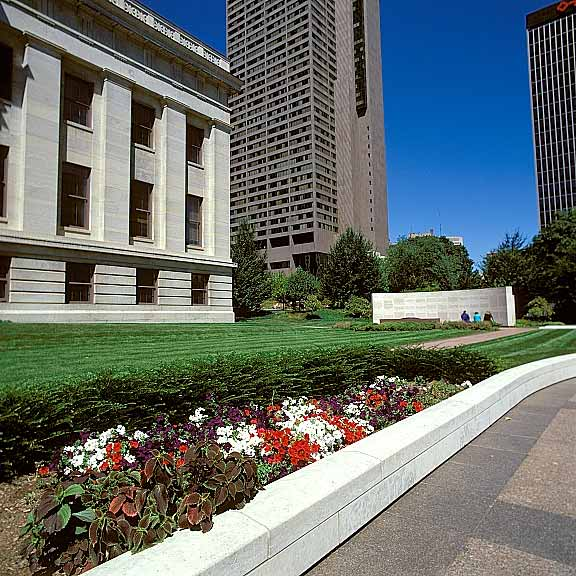 Turf Reinforcement was installed in the fire lane access areas at the Ohio Statehouse Capitol and Veterans Plaza, Columbus, Ohio, using Grasspave2.