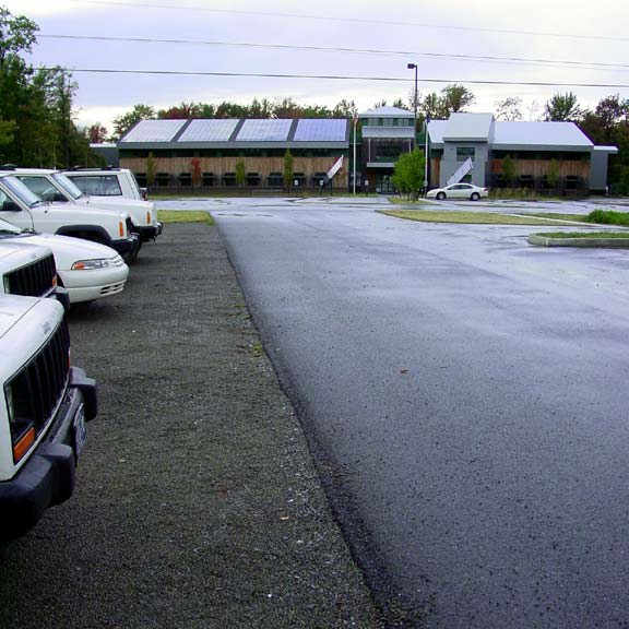 Aggregate Paving was installed in the parking area at The Pennsylvania Environmental Protection's Cambria Office, using Gravelpave2.