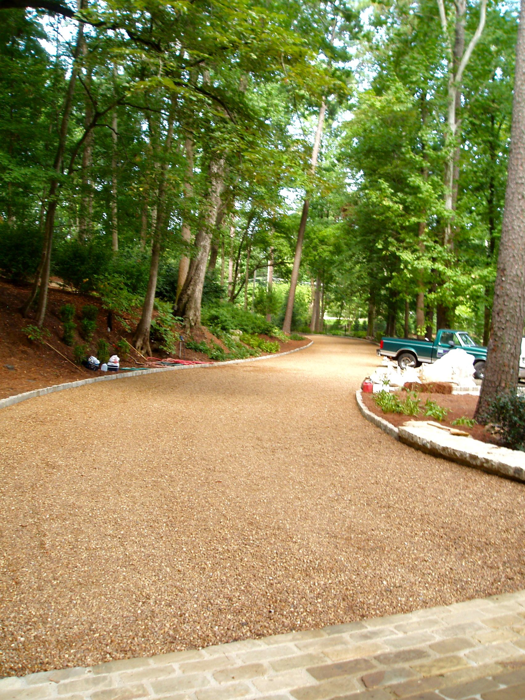 Gravelpave2 gravel paver adds a natural look to the landscape.