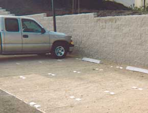 Parking Delineation in Gravel Paver