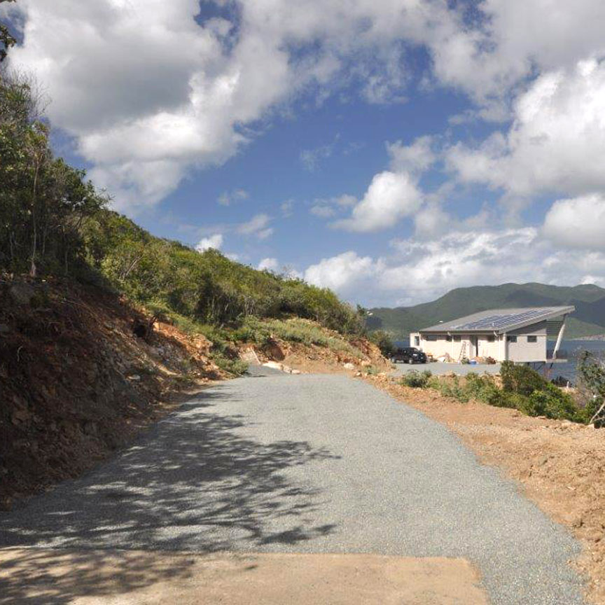 Aggregate Paver was installed in a residential driveway in Saint John, U.S. Virgin Islands, using Gravelpave2.