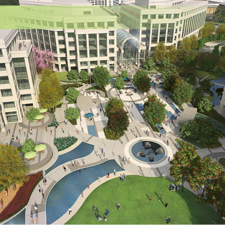 Rendering of the LA Water Garden