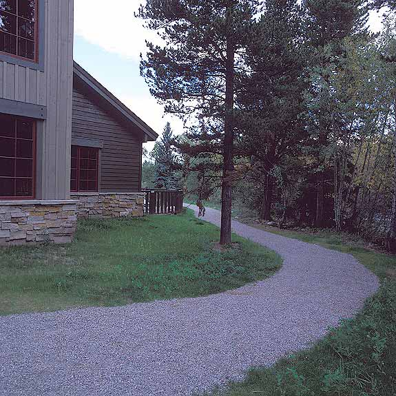 Gravel Paving preserves storm water by allowing it to drain through the gravel using Gravelpave2.