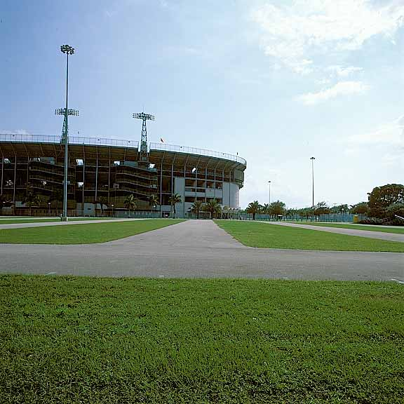 Turf Pavers were installed in parking areas at Miami Marlins Park, Miami, Florida, using Grasspave2.