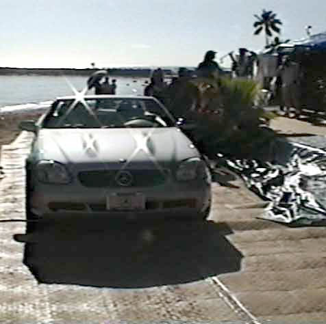 Portable-boardwalk mats were installed for temporary car access using Beachrings2.