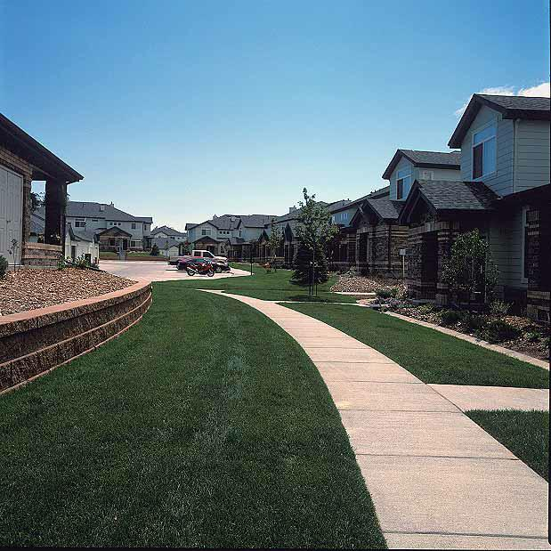 Turf Reinforcement was installed in the fire lane access areas at the Green River Apartments, Highlands Ranch, Colorado, using Grasspave2.