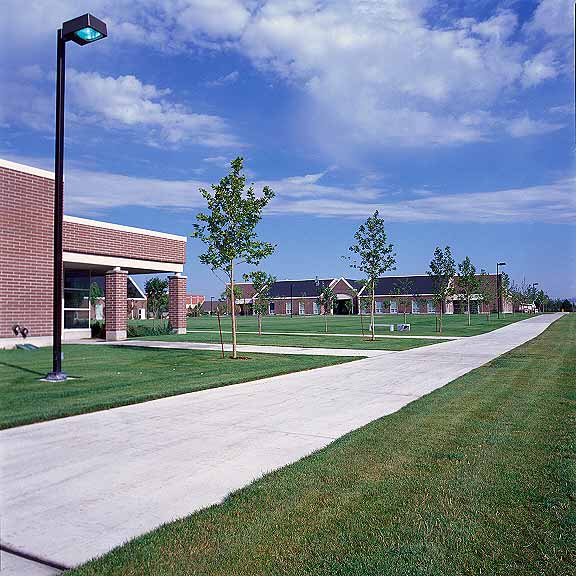 Permeable Paving was installed in the maintenance-access areas at Waterford School, Sandy, Utah, using Grasspave2.