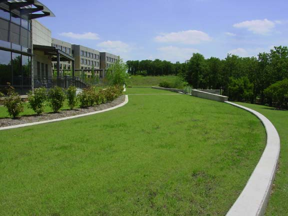 Grass Pavement was installed for fire lane access and employee enjoyment using Grasspave2.