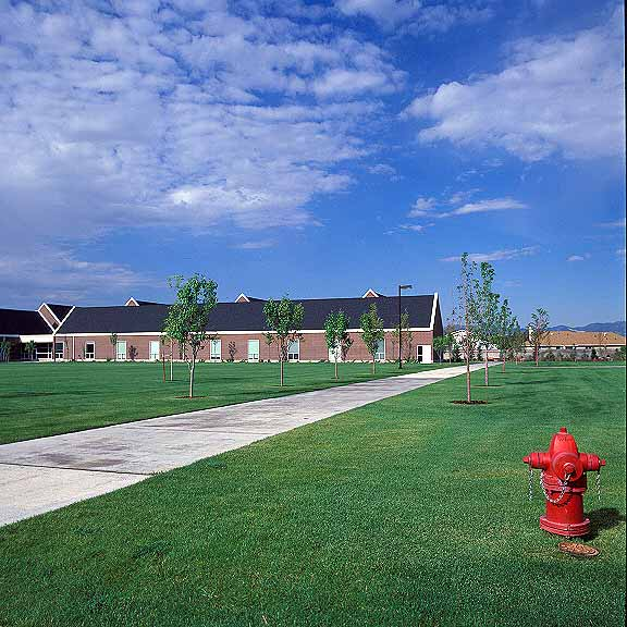 Porous Pavers were installed in the maintenance-access areas at Waterford School, Sandy, Utah, using Grasspave2.
