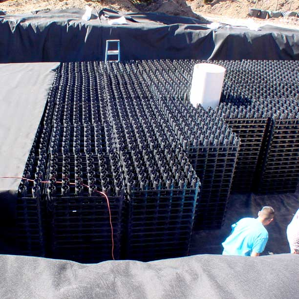 Stormwater storage was installed for water harvesting and irrigation using Rainstore3.