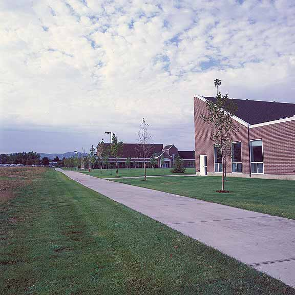 Pervious Pavers were installed in the maintenance-access areas at Waterford School, Sandy, Utah, using Grasspave2.
