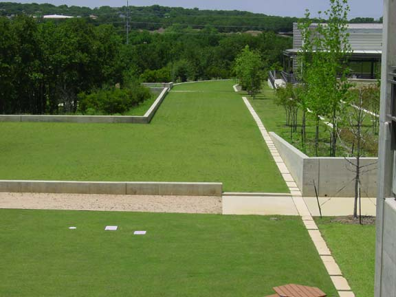 Grass-Porous Pavers were installed for fire lane access using Grasspave2.