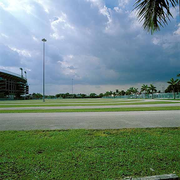 Grass Paving was installed in the parking areas at Miami Marlins Park, Miami, Florida, using Grasspave2.