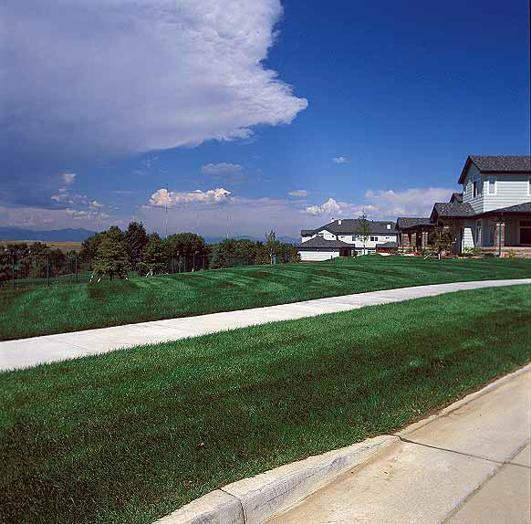 Turf-Stabilization Mats were installed in the fire lane access areas at the Green River Apartments, Highlands Ranch, Colorado, using Grasspave2.