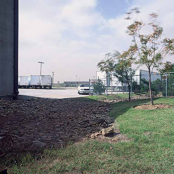Turf Reinforcement was installed in the fire lane access areas and swale grass berm areas as needed using Grasspave2.