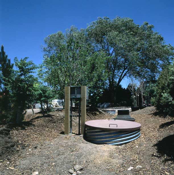 Subsurface-water storage was installed for water harvesting and irrigation using Rainstore3.