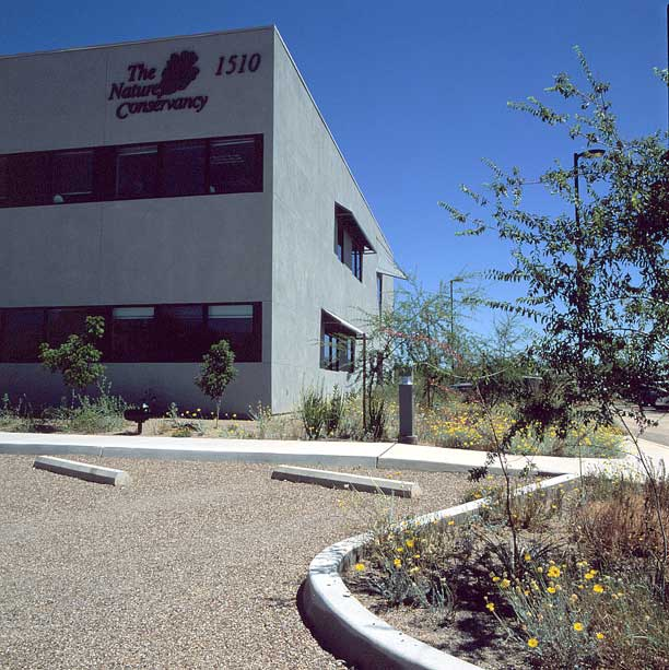 Aggregate Paving was installed on the parking lot at the Nature Conservancy, Tucson, Arizona, using Gravelpave2.