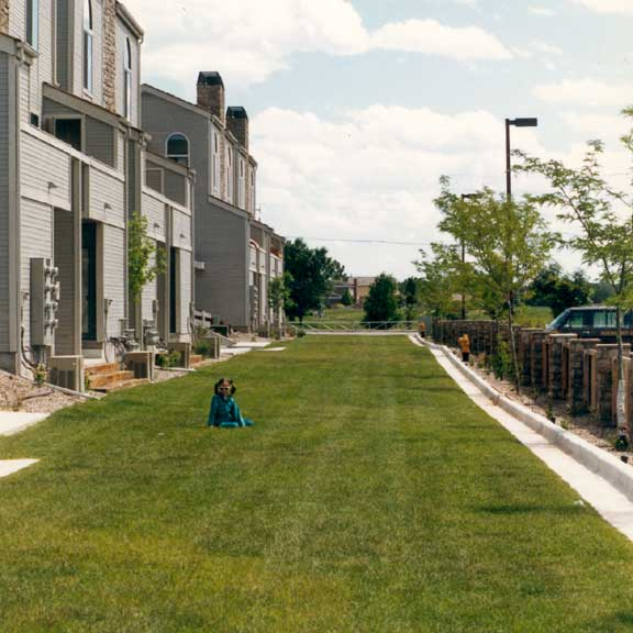 Porous Pavement was installed in the fire lane access areas using Grasspave2.