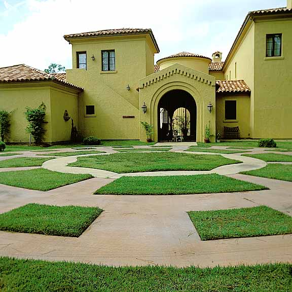 Porous Pavers were installed on part of the driveway using Grasspave2.