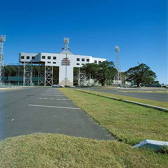Pervious Pavers were installed on the west side of Ladd Pebbles Stadium in Mobile, Alabama, using Grasspave2.