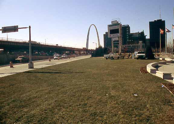 Pervious pavers were installed in the St. Louis Rams Stadium in St. Louis, Missouri, using Grasspave2.