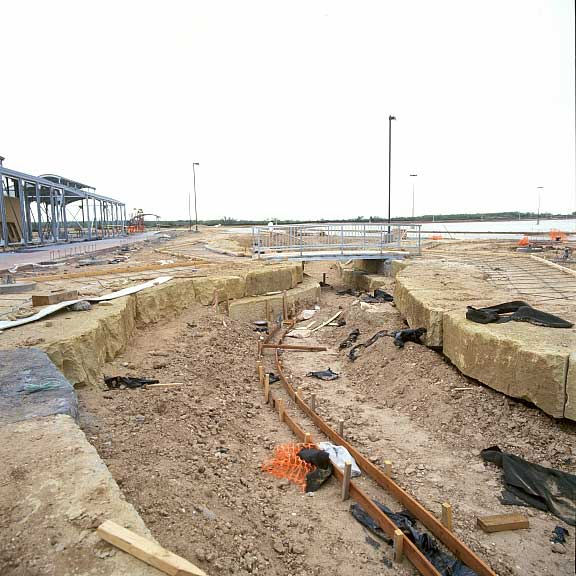 Underground-water detention was achieved at the Donley County Safety Rest Area in Hedley, Texas, using Gravelpave2 and Rainstore3.