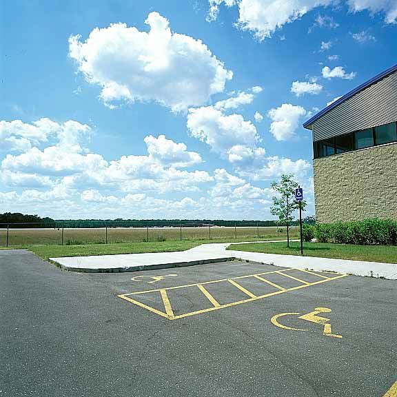 Porous turf reinforcement mats were installed in the fire lane access areas at M-TEC Northwestern Michigan College using Grasspave2.