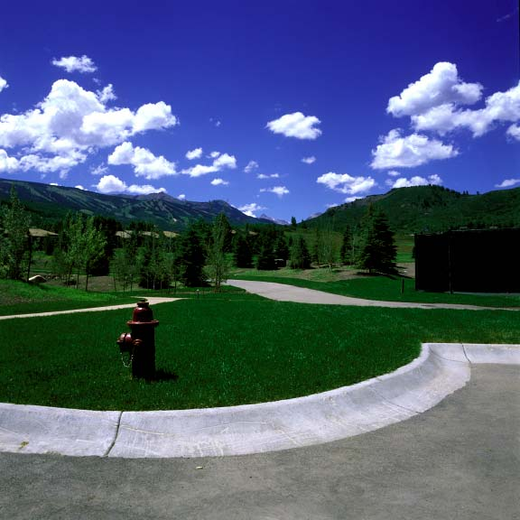 Pervious grass paving was installed in fire-lane access areas at the Snowmass Club in Snowmass, Colorado, using Grasspave2.