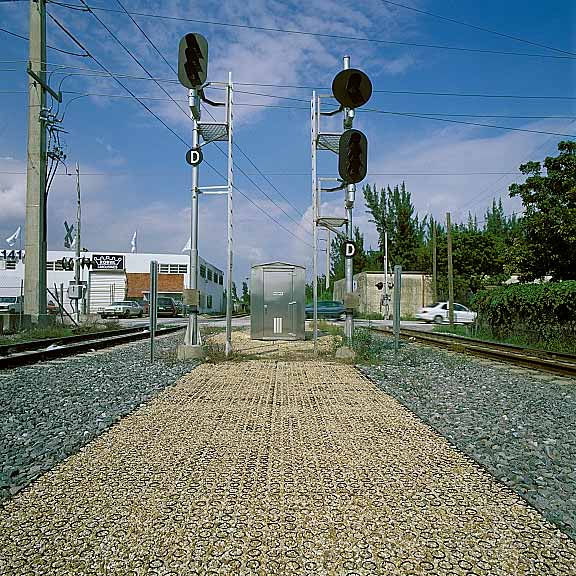 Porous Pavers were installed in the access road at Tri Rail Station at the Miami Airport using Gravelpave2.