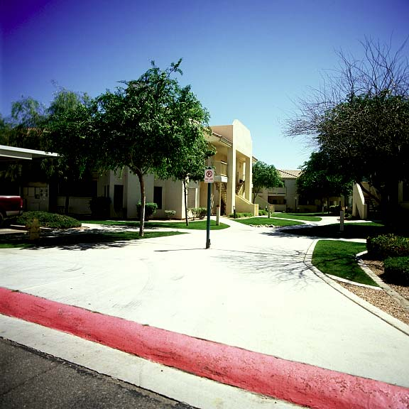 Permeable parking was installed in the fire lane at the Allegro Apartments in Phoenix, Arizona, using Grasspave2.