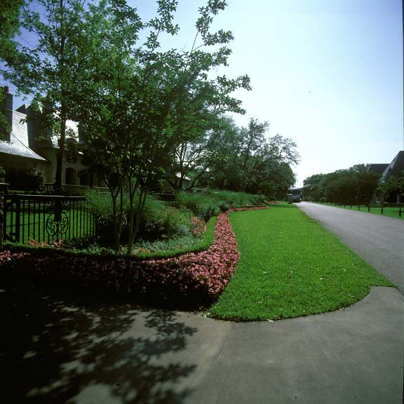 Pervious-grass paving was installed in off-street parking areas at the Connor Residence in Dallas, Texas, using Grasspave2.