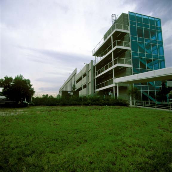 Porous-Turf-Reinforcement Mats were installed in the utility-access lane at the IBM Tivoli Software Center in Austin, Texas, using Grasspave2.