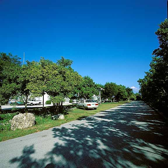 Porous Pavement was installed in the parking and swale areas at Biscayne National Park, Homestead, Florida, using Grasspave2.