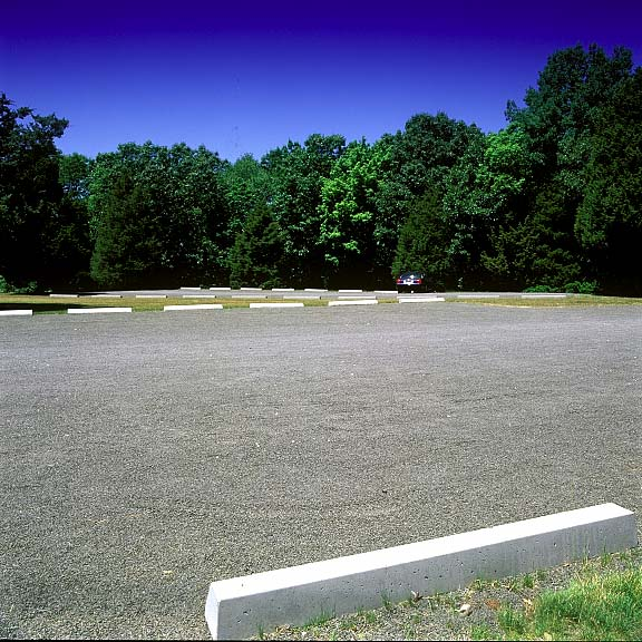 Pervious Pavers were installed in the parking lot at Fort Shantok State Park, Mohegan Tribe, Uncasville, Connecticut, using Gravelpave2.