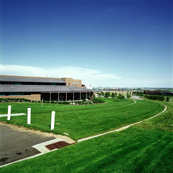 Turf-Reinforcement was installed at Quantum Peripherals Headquarters, Louisville, Colorado, using Grasspave2.