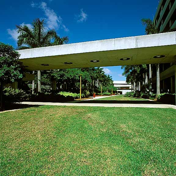 Grass Paving was installed in the fire lane access areas at Fort Lauderdale International Airport Hibiscus Parking Garage, Fort Lauderdale, Florida, using Grasspave2.