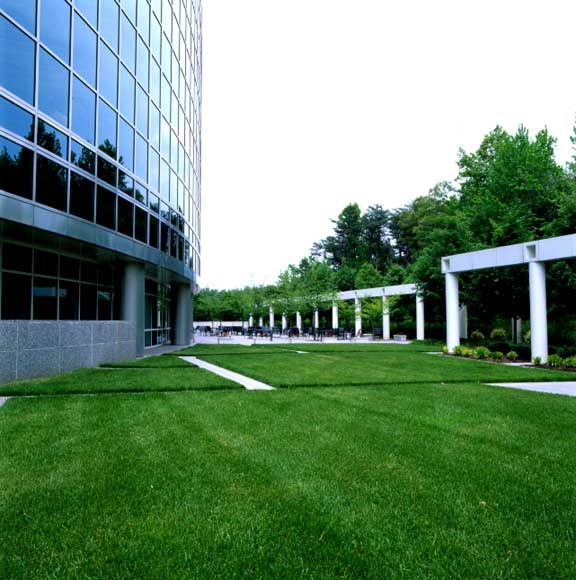 Grass Pavement was installed for fire lane access and jogging at National Archives, Adelphi, Maryland, using Grasspave2.