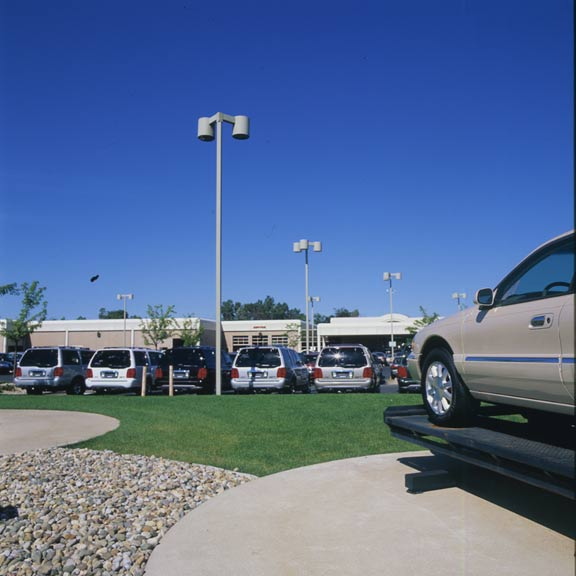 Grass Pavement was installed in the car-display areas of Varsity Lincoln Mercury in Nova, Michigan, using Grasspave 2.