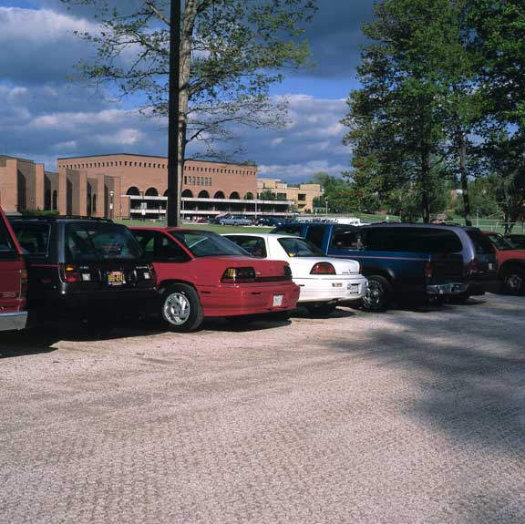 Gravel Pavers were installed in the parking areas at Frostburg State University, Frostburg, Maryland, using Gravelpave2.