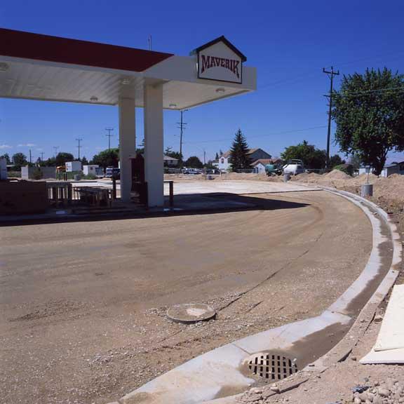 Underground-Rainwater Storage was installed at the Maverik Store and Gas Station, Nampa, Idaho, using Rainstore3.