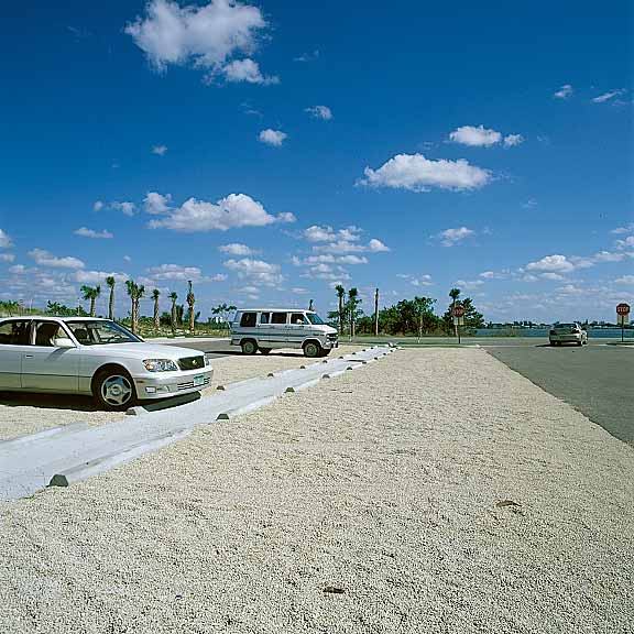 Gravel Reinforcement was installed on parking lots using Gravelpave2.
