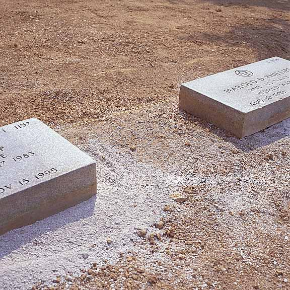 Pervious-Grass Paving was installed to assist grave marker stabilization at Camp Nelson National Cemetery, Nicholasville, Kentucky, using Grasspave2.