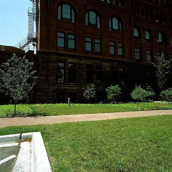 Turf Reinforcement was installed in the fire lane access areas at the Illinois Institute of Technology, Chicago, Illinois, using Grasspave2.