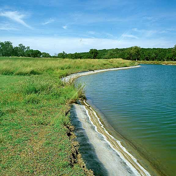 Erosion control mats were installed to achieve erosion control using Slopetame2.