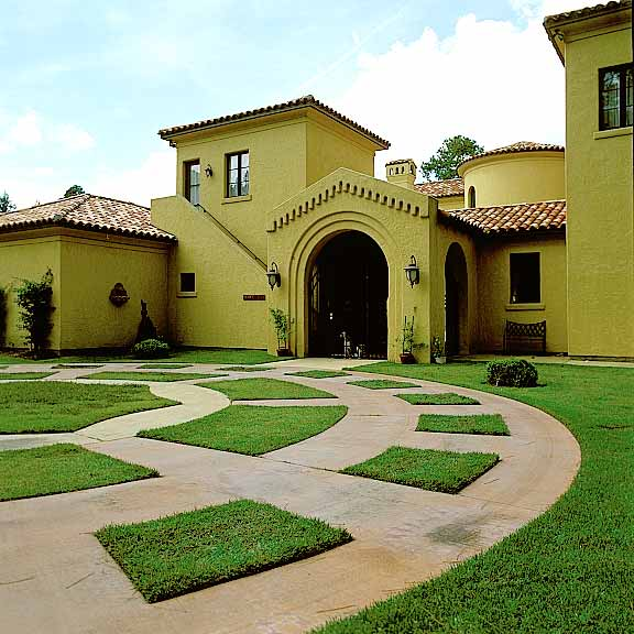 Permeable Pavers were installed on part of the driveway of this home using Grasspave2.