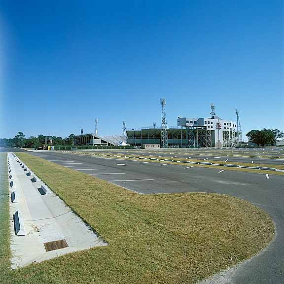 Grass Pavers were installed on the west side of Ladd Pebbles Stadium in Mobile, Alabama, using Grasspave2.