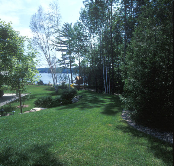 Permeable pavement was installed in the boat access lane at a Lake Charlevoix residence, Charlevoix, Michigan, using Grasspave2.