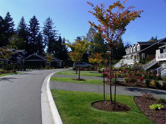A grass reinforcement system was installed to widen the road at the Hill Rise Terrace in Victoria, British Columbia, using Grasspave2.