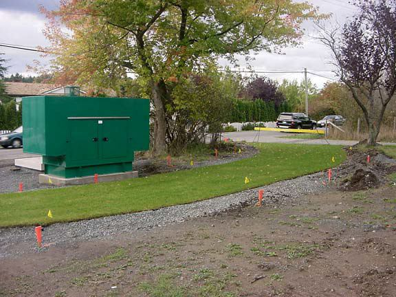 Permeable parking was installed in the utility access areas at the Blenkinsop Lift Pump Station, Victoria, British Columbia, using Grasspave2.